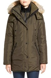 Andrew Marc New York Women's Andrew Marc 'Sydney' Down Parka With Genuine Coyote Fur Trim Olive