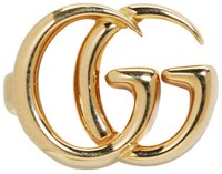 Gucci Gold Single Gg Clip On Earring