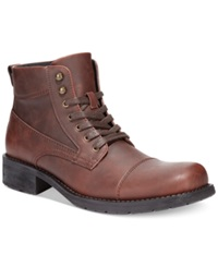 Alfani Dean Utility Boots Men's Shoes Brown