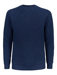 Aquascutum London Blackwater Rib Crew Neck Knit Blue