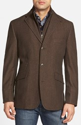 Men's Big And Tall Kroon 'Ritchie' Regular Fit Sport Coat Brown
