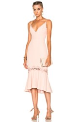 Nicholas Crepe Fitted Panel Dress In Pink