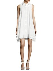 Calvin Klein Point Collar Cotton Dress White