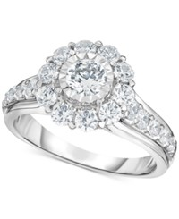 Trumiracle Diamond Bridal Engagement Ring 1 1 2 Ct. T.W. In 14K White Gold