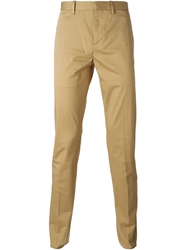 Neil Barrett Slim Fit Chinos Brown