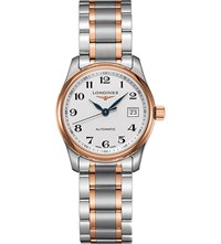 Longines L2.257.5.79.7 Master Collection Rose Gold Plated And Stainless Steel Watch