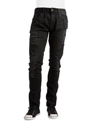 Guess Slim Leg Distressed Jeans Black