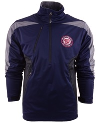 Antigua Men's Washington Nationals Discover Half Zip Jacket Navy Gray