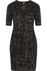 M Missoni Jacquard Knit Wool Blend Dress Green