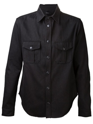 John Elliott Co. Snap Button Front Shirt Black
