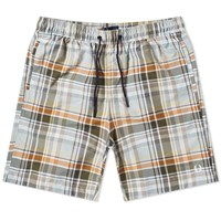 Fred Perry Madras Check Swim Short Green