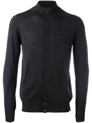 Paolo Pecora Concealed Fastening Cardigan Grey