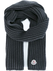 Moncler Ribbed Scarf Grey