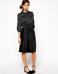 The Laden Showroom X Even Vintage 40'S Blouse Dress Black