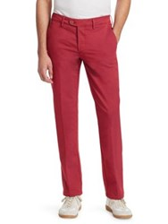 Saks Fifth Avenue Collection Double Faced Chino Trousers Red Navy