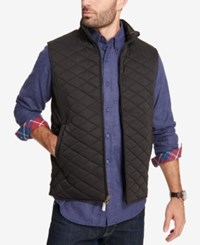 Weatherproof Vintage Men's Quilted Full Zip Stand Collar Vest Created For Macy's Black