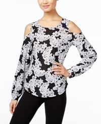 Inc International Concepts Lace Print Cold Shoulder Top Only At Macy's Lace Flower
