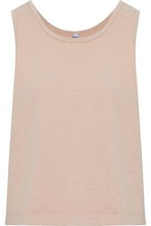 Oak Cotton Jersey Tank Beige