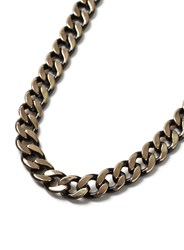 Topman Gold Look And Black Link Chain Necklace