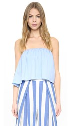 Milly Strapless Top Sky