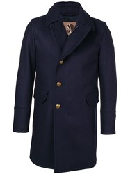 Sealup Single Breasted Coat Blue