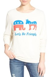 Wildfox Couture Women's Wildfox 'Baggy Beach Jumper Let's Be Friends' Pullover