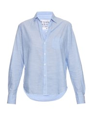 Frank And Eileen Eileen Cotton Chambray Shirt Light Blue