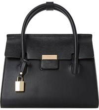 Dune Dormal Flap Over Faux Leather Handbag Black Synthetic