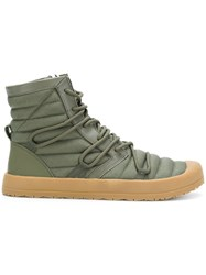 Volta Hi Top Sneakers Cotton Leather Rubber Green