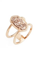 Kendra Scott Women's Elyse Ring Rose Gold Drusy Rose Gold