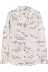 Equipment Adalyn Printed Washed Silk Shirt Gray