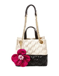 Betsey Johnson Be My Better Half Shopper Bag Cream Black