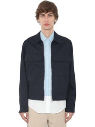 J.W.Anderson Cotton Canvas Work Wear Jacket Navy