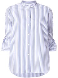 Odeeh Casual Striped Shirt Blue