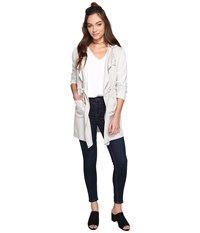 Bb Dakota Ariadine Twill French Terry Jacket Spectral Grey Women's Coat White