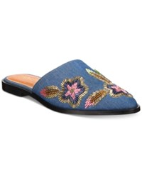 Kenneth Cole Reaction Women's Speed Floral Mules Women's Shoes Blue