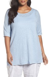 Eileen Fisher Plus Size Women's Organic Linen And Cotton Tunic Morning Glory