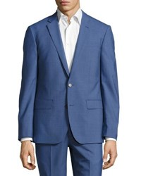 Neiman Marcus Two Button Two Piece Suit Bright Blue
