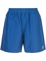 Neighborhood Side Logo Track Shorts Blue