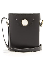 Hillier Bartley Binocular Cross Body Leather Bag Black