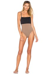Mara Hoffman Combo One Piece Brown