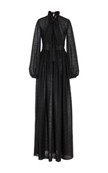 By. Bonnie Young Web Embroidery Maxi Dress Black