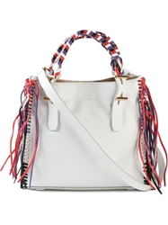 Desa 1972 Braided Top Handle Tote White