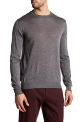 Gant Light Weight Crew Neck Merino Wool Sweater Gray