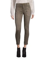 Current Elliott The Station Agent Utility Skinny Jeans Army Green