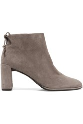 Stuart Weitzman Lofty Suede Ankle Boots Gray