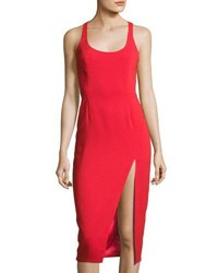 Jay Godfrey Witherspoon Scoop Neck Sheath Dress Red
