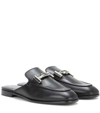 Tod's Leather Mules Black