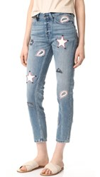 Scotch And Soda Maison Scotch L'adorable Jeans With Leather Patches Alkaline Bleach
