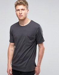 Ringspun Pocket Slouch T Shirt Black